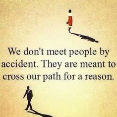 Meeting people for a reason