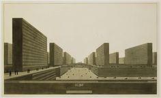 Ludwig Karl Hilberseimer, Highrise City (hochhausstadt), 1924
