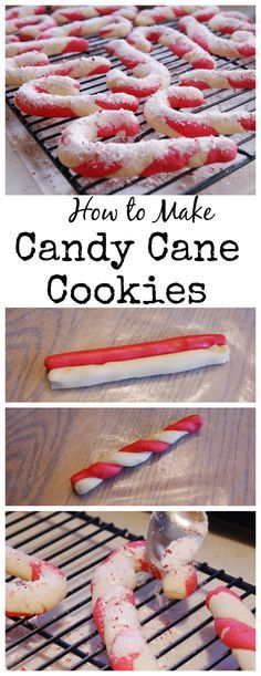 How to Make Classic Candy Cane Cookies ~ step-by-step. http://www.thekitchenismyplayground.com