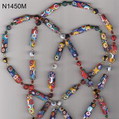 Venetian Murano Millefiori Glass Bead Necklace