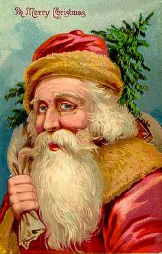 Vintage Postcard....#Santa