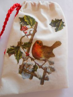 Christmas Bird Lavender sachet