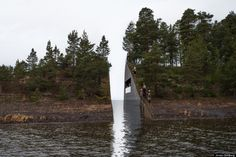 """Norway has unveiled the designs for a memorial to remember the victims of a 2011 bombing and mass shooting that killed 77 people in Oslo and Utoya, a small island outside of the capital. It's nothing short of powerful. Swedish artist Jonas Dahlberg presented a proposal to cut a small gap through the island, a """"memory wound"""", he described in his artist statement."""