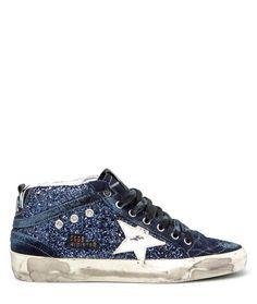 GLITTER BLUE MID STAR SNEAKERS #ggdb #goldengoose #woman #playgroundshop #shoponline #fashion