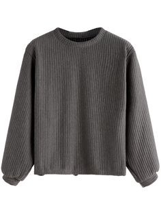 Shop Dark Grey Ribbed Sweatshirt online. SheIn offers Dark Grey Ribbed Sweatshirt & more to fit your fashionable needs.