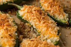 Whether you like your food super spicy, or prefer something mild, this Low Calorie Jalapeño Poppers with Cool Dip recipe makes the perfect healthy snack! You can make them mild, medium, or hot, and if you want to make them kid-friendly, use mini sweet bell peppers in place of the jalapeños. These jalapeno poppers are a fabulous game-day snack, and work well for summer barbecues as well!
