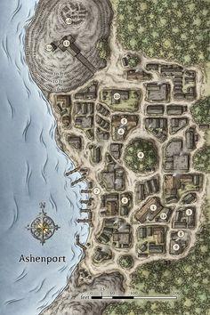 Duas vilas e um porto     Tenho falhado nos dias de postagem dos mapas, mas logo isso voltará para as terças e sextas... além de que es...