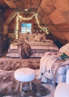 If I could just curl up in this room with a few books, I'd last the winter.