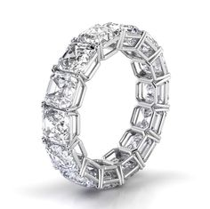 Asscher Cut Eternity Diamond Ring