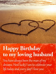 Happy Birthday Wishes Card For Husband To Loved