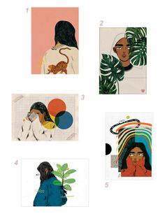 A choice of 10 different prints. Printed professionally on card. Size : x Please select your desired print in the dropdown menu. Graphic Design Illustration, Illustration Art, Illustrations, Art Sketches, Art Drawings, Bd Art, Aesthetic Stickers, Aesthetic Art, Art Sketchbook