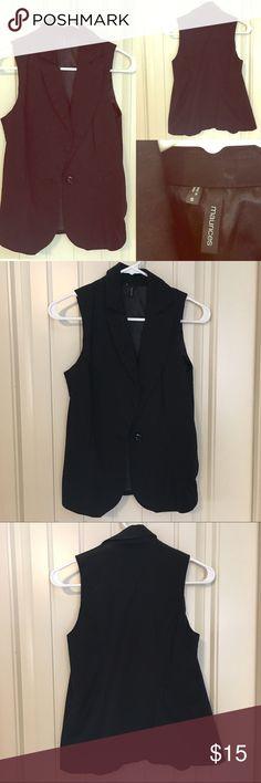 Selling this Black Work Vest on Poshmark! My username is: mckenzieburns89. #shopmycloset #poshmark #fashion #shopping #style #forsale #Maurices #Tops