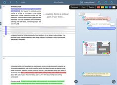 An innovative iPad app for annotating documents, including PDFs, Word & PowerPoint docs, and even websites. Documents can be imported from and exported to popular cloud storage platforms and be saved as PDFs or RTF formats. Highlighted text can be view in isolation, meaning you have a ready-made set of notes.