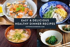 Healthy dinner recipes featuring comforting soups, salads, pressure cooker meals and more. Indian Food Recipes, Asian Recipes, New Recipes, Cooking Recipes, Japanese Kitchen, Japanese Dishes, Japanese Recipes, Japanese Food, Easy Healthy Dinners