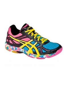 Asics Womens Gel Flashpoint Volleyball Shoe-Black/Neon .... My next pair of volleyball shoes???
