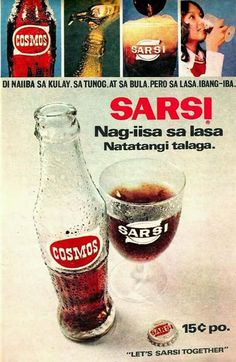 Cosmos or Sarsi with egg, natch! 80s Ads, Old Advertisements, Retro Ads, Vintage Ads, Vintage Posters, Credit Card Design, Nostalgia, Philippines Culture, Filipino Culture