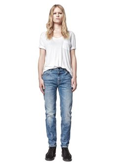 Wang 002 Relaxed Fit Jeans in Light Blue