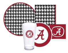Tailgate Party Packs (for 8 or 16) including linens & flatware for 10 SEC teams. #Bama