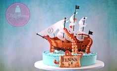 The making of a pirate ship cake! Being attacked by a giant squid! (Don't worry... ship's got this one under control...)