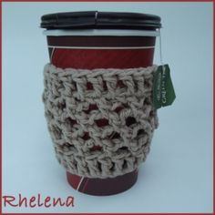 Mesh Cup Sleeve ~ free pattern