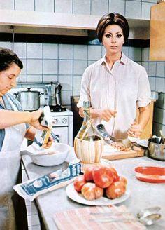 Sophia Loren spagetti met tomatensaus