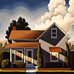 "R. Kenton Nelson | ""The Farmhouse in Monrovia"". 
