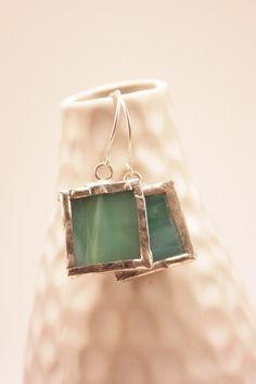 earrings soldered tiles