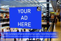 Finally,Dooh campaigns can generate amazingly useful viewership analytics. Advertising Services, Digital Media, Billboard, Digital Marketing, Campaign, Branding, Ads, Amazing, Life