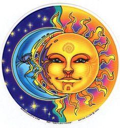 Sun Art CBS Sunday Morning, Art - Sun, Moon, Stars