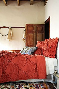 I love this bedding but in cream. Its Rivulets from Anthropologie