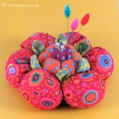 Flower Pincushion Pattern Tutorial Cactus Blossom by LaTodera