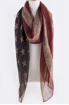SALE Vintage Flag SCARF Infinity American by myfashioncreations, $15.00