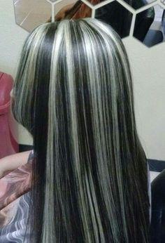 Hair Gray Hair Highlights, Hair Color Streaks, Cut My Hair, Hair Cuts, Hair Inspo, Hair Inspiration, Skunk Hair, Dying My Hair, Aesthetic Hair