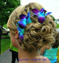 blue orchid hair clip - Google Search