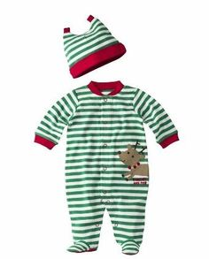 Baby Boy Christmas Outfit, First Christmas Onesie, Red and Green ...