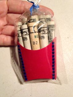 Cool money gift idea! MONEY FRIES!
