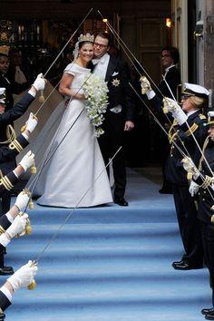 JUNE 2010 - Crown Princess Victoria of Sweden marries Daniel Westling at Stockholm Cathedral in Sweden.