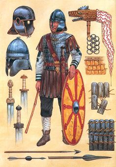 """""""Late Roman officer- Arthurian warrior, c.450 AD.""""- La Pintura y la Guerra. Sursumkorda in memoriam"""