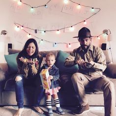 Stranger Things family Halloween costumes #daddy #love #family #dad #daughter #baby