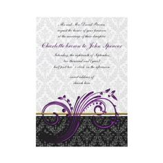 #elegant #damask #purple #wedding #invitations set by #mgdezigns .The image ,design and idea is copyright @Maria.G all rights reserved.You can REPIN it.