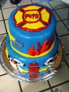 Fire Fighter cake!!! So cute...Thomas would LOVE this