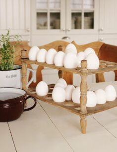 Farmhouse  kitchen  wooden egg holder