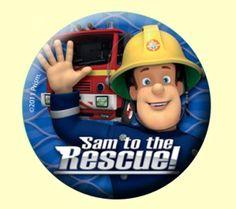 Fireman Sam Party Badge