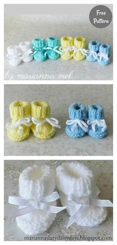 These cute baby booties are the perfect accessories for your baby! Use this newborn baby booties free knitting pattern to make your own now! Knit Baby Booties Pattern Free, Baby Knitting Patterns Free Newborn, Beanie Knitting Patterns Free, Knit Baby Shoes, Free Baby Blanket Patterns, Baby Hats Knitting, Free Knitting, Knitted Baby Booties, Finger Knitting