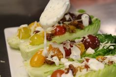 Finishing a Wedge Salad Wedge Salad, Food Preparation, It Is Finished, Ethnic Recipes, Beautiful