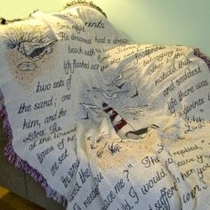 personalized sympathy afghans memorial throws personalized
