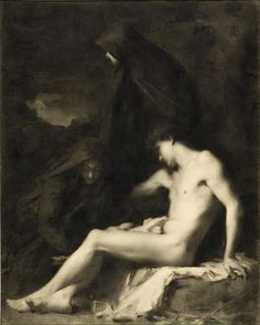 "Jean-Jacques Henner ""Saint Sebastian Attended by Saint Irene"", circa 1889"