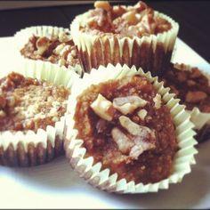 Paleo & Gluten Free Pumpkin Muffins. Sooo decadent. Taste like Pumpkin pie.