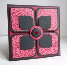 Easy Flower Petal Card using rounded squares