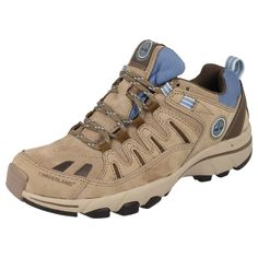 LADIES TIMBERLAND LACE UP TRAINERS IN BROWN/BLUE - STYLE - 41631/SANDOWN LTHR LT